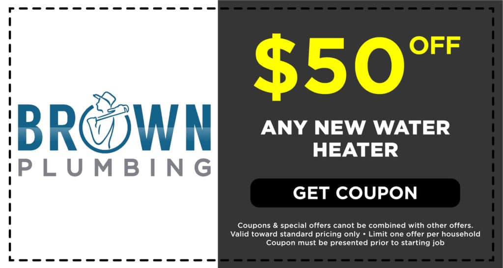 Brown Plumbing New Water Heater Coupon