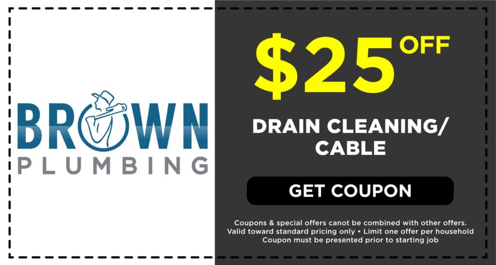 Brown Plumbing Drain Cleaning Coupon