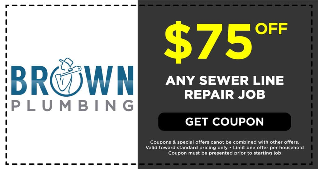 Brown Plumbing Sewer Line Repair Coupon
