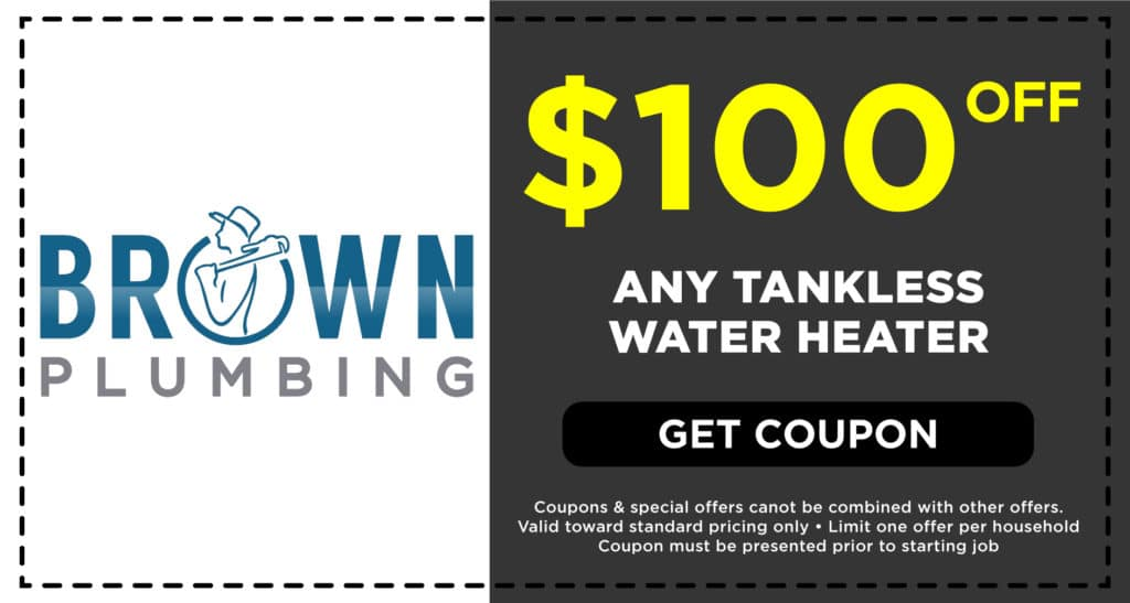 Brown Plumbing Tankless Water Heater Coupon