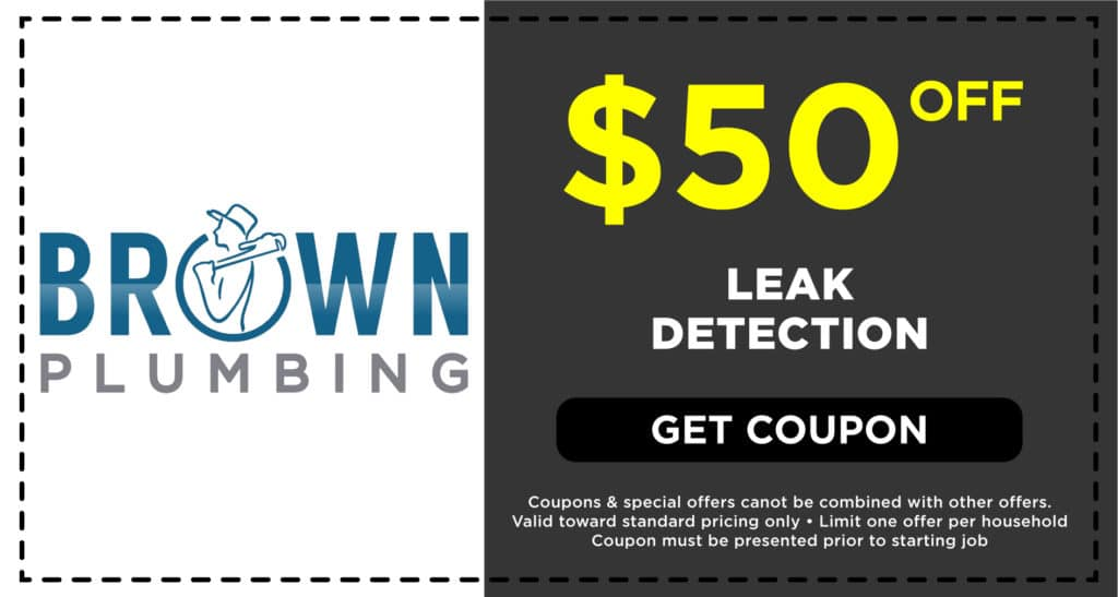 Brown Plumbing Leak Detection Coupon