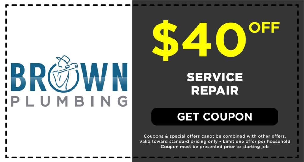 Brown Plumbing Service Repair Coupon