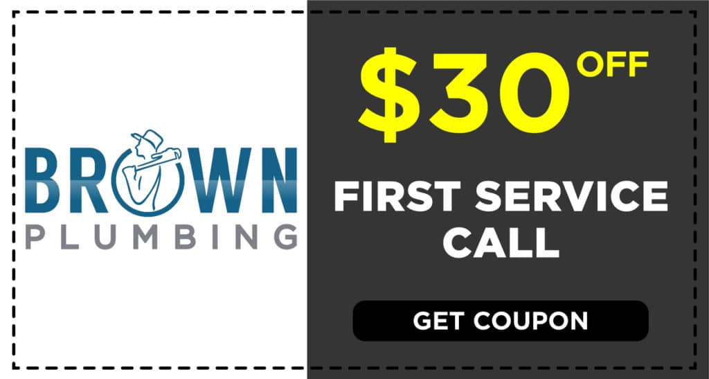 Brown Plumbing First Service Coupon